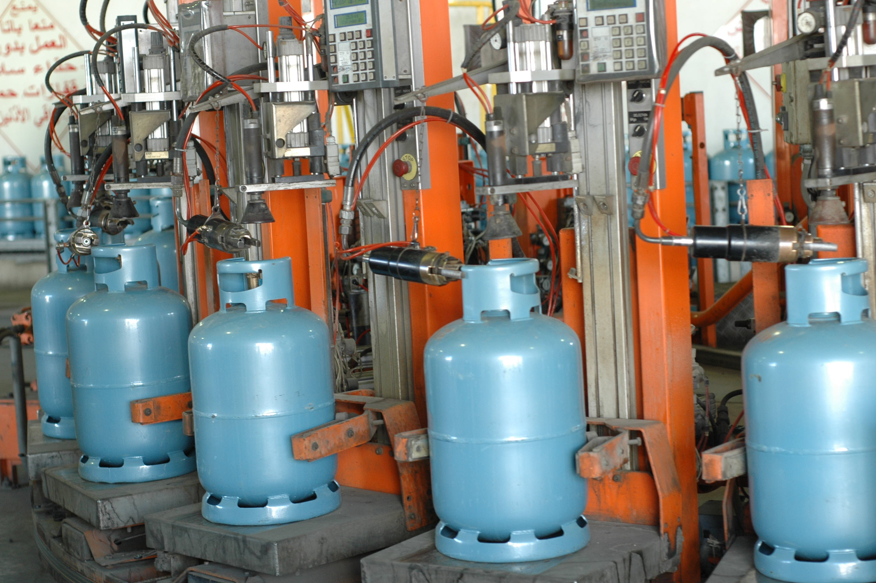 Production of gas cylinders LPG